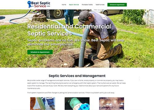 Best Septic Services, Westminster, VT - Website Design