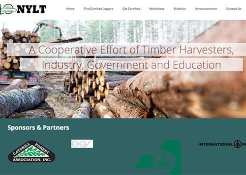 New York Logger Training - Website Design