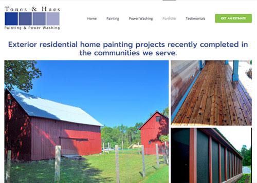 Tones & Hues Painting and Powerwashing, Springfield, VT - Website Design